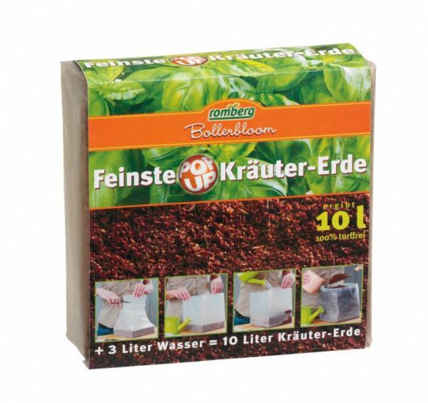 Feinste POP UP Kräutererde / Anzuchterde, 10-Liter Packung, komprimiert