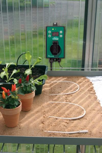 Pflanzen- und Bodenheizkabel +10cm Zuleitung TYP: AN/AUS