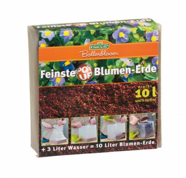 Feinste POP UP Zimmerblumenerde, 10-Liter Packung, komprimiert