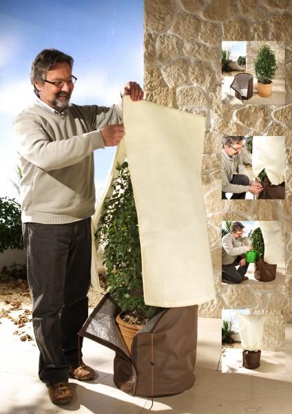 Winterschutzhaube Vlieshaube Doppelpack XL 100cm hoch, 80cm breit, 70g/m² Spezialgewebe